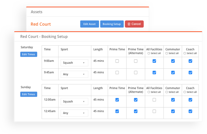 sportyHQ Configure your courts to the minute…
