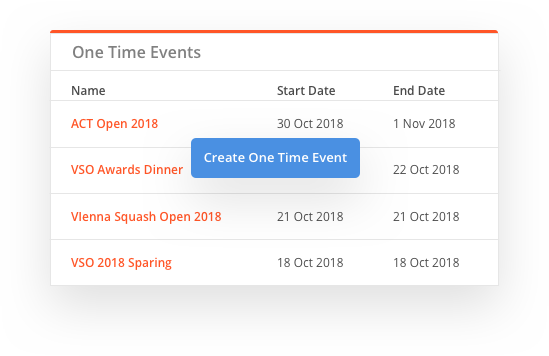 sportyhq One-time events